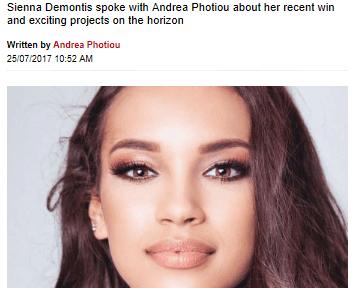 Junior Miss Galaxy UK – Sienna Demontis, has featured in her local press!