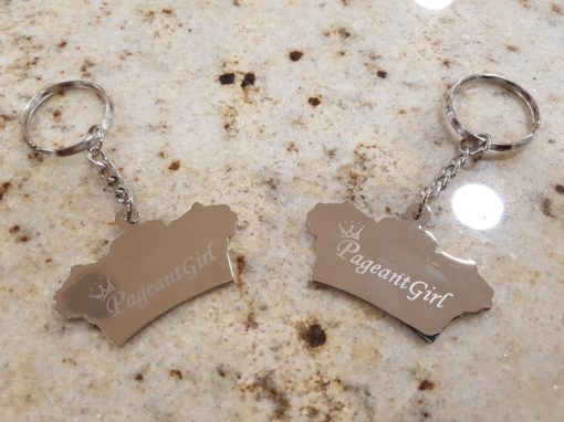 Pageant Girl keyring