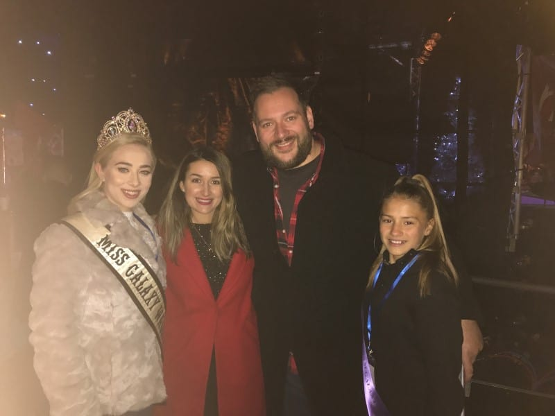 Miss Galaxy Wales, Lauren Parkinson, was a special guest at the Wrexham Lights switch-on!