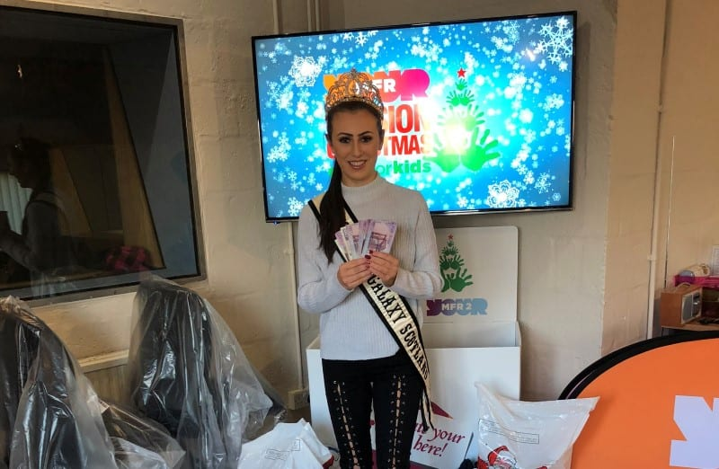 Miss Teen Galaxy Scotland, Kloe Gibson, made a donation to Cash for Kids!