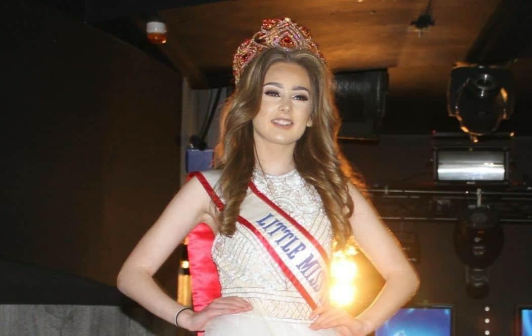 Little Miss Teen Great Britain, Jasmine Vigus Huggins, strutted her stuff on the Big Prom Fayre's catwalk!