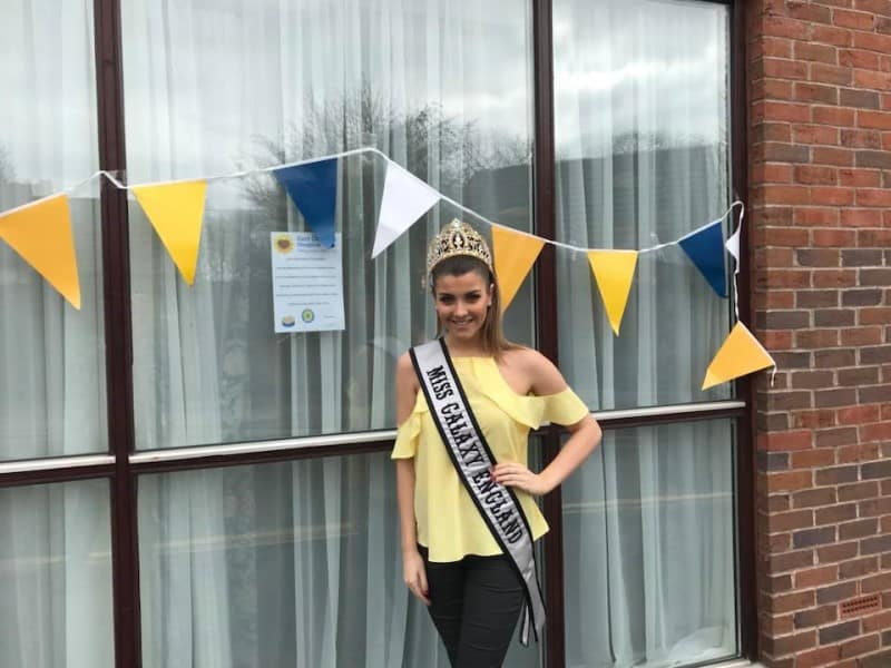 Miss Galaxy England, Kelsey Poulton, was a special guest at the East Cheshire Hospice's fundraiser!