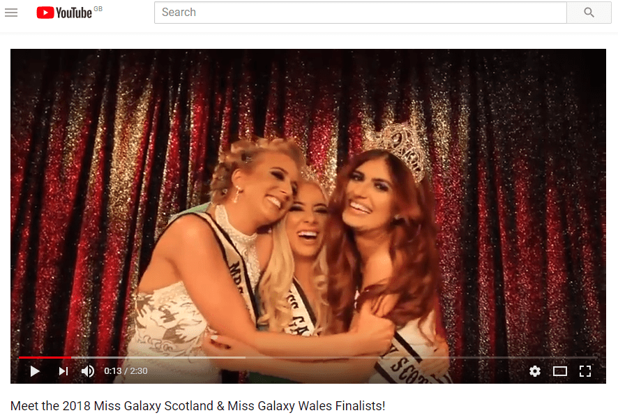 New YouTube Upload – Meet the 2018 Miss Galaxy Scotland & Wales Finalists!