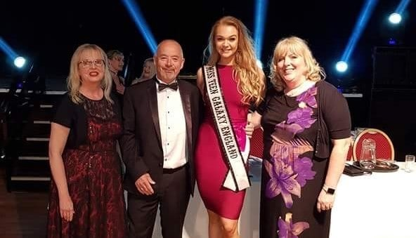 Miss Teen Galaxy England, Harriotte Lane, was a special guest at a charity ballroom competition!