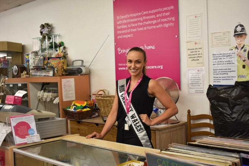 Miss Galaxy Wales, Emma Davies, is now a regular volunteer at St David's Hospice Care!