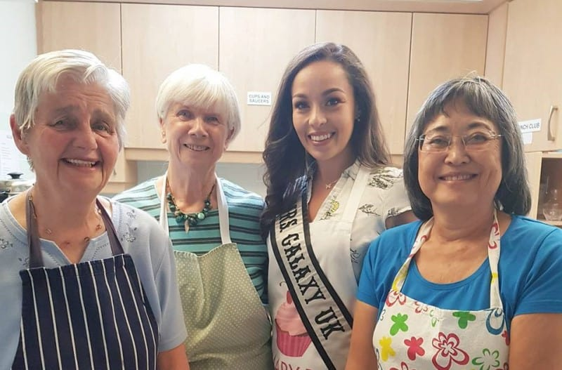 Mrs Galaxy UK, Ruth Wade, cooked up a storm at her local community centre!