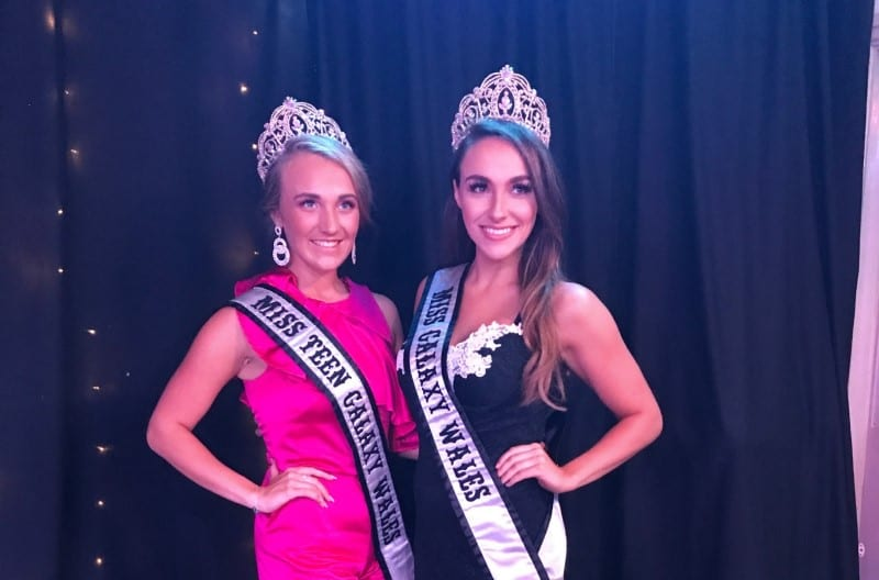 Miss & Miss Teen Galaxy Wales, Emma & Mia-Rose, were judges at Miss Sapphire Belle!