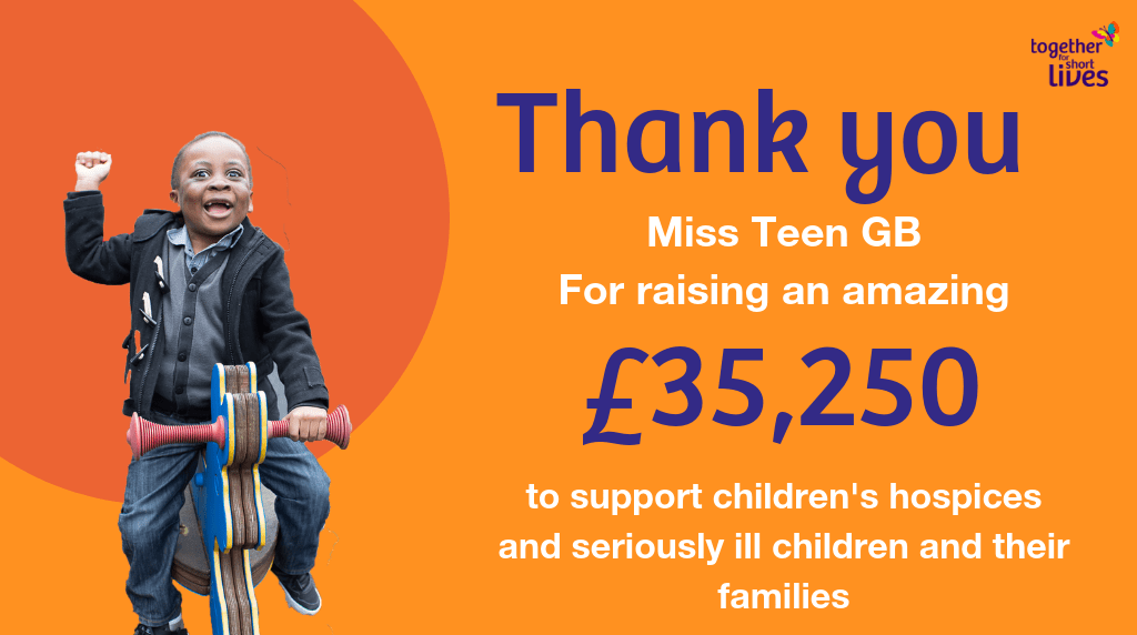 The Miss Teen GB class of 2018 raised a phenomenal £35,250 for Together for Short Lives!