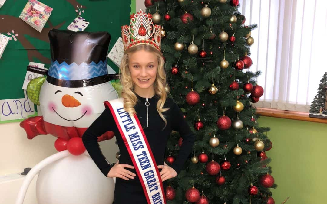Little Miss Teen Great Britain, Ellie-Mia, wishes you a very Merry Christmas!