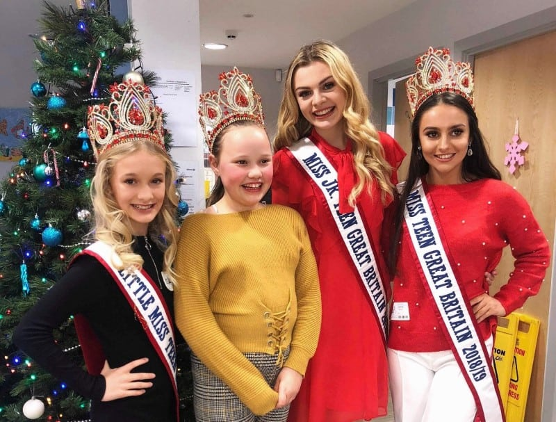 Our Miss Teen Great Britain Queens were special guests at Derian House's Christmas Party!