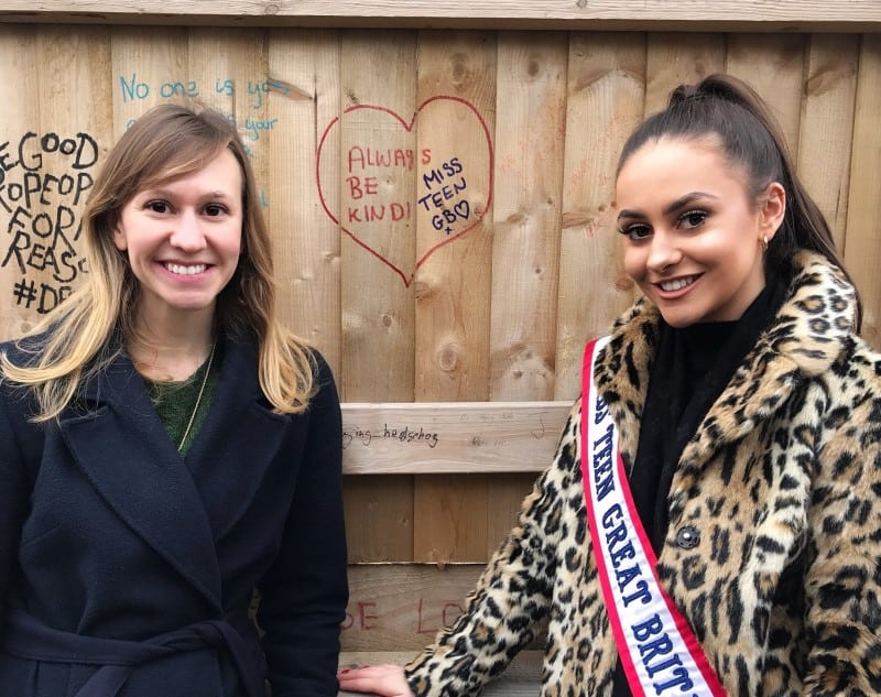 Miss Teen Great Britain, Imogen Chapman, paid a visit to the No Offence Fence!