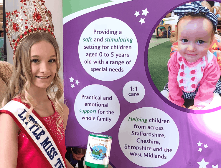 Little Miss Teen Great Britain, Ellie-Mia Zschiesche, has been fundraising for the Peter Pan Centre!