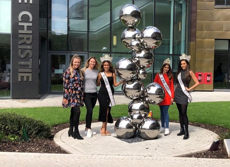 Our international Galaxy queens, made a special trip to The Christie!