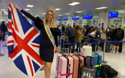 Miss International UK, Harriotte Lane, has arrived in Japan for the Miss International Beauty Pageant!
