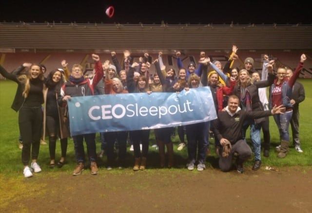 Ms Galaxy Europe, Rebecca Everson, completed a sleep out and raised over £700 for charity!