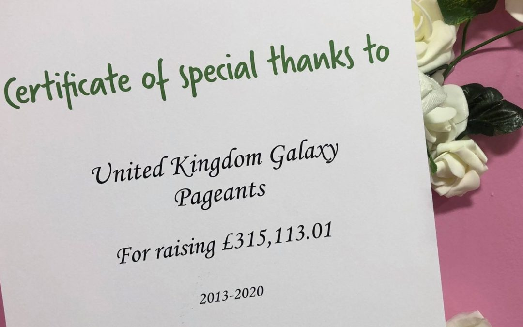 The UK Galaxy Pageants have raised over £300,000 for The Christie!