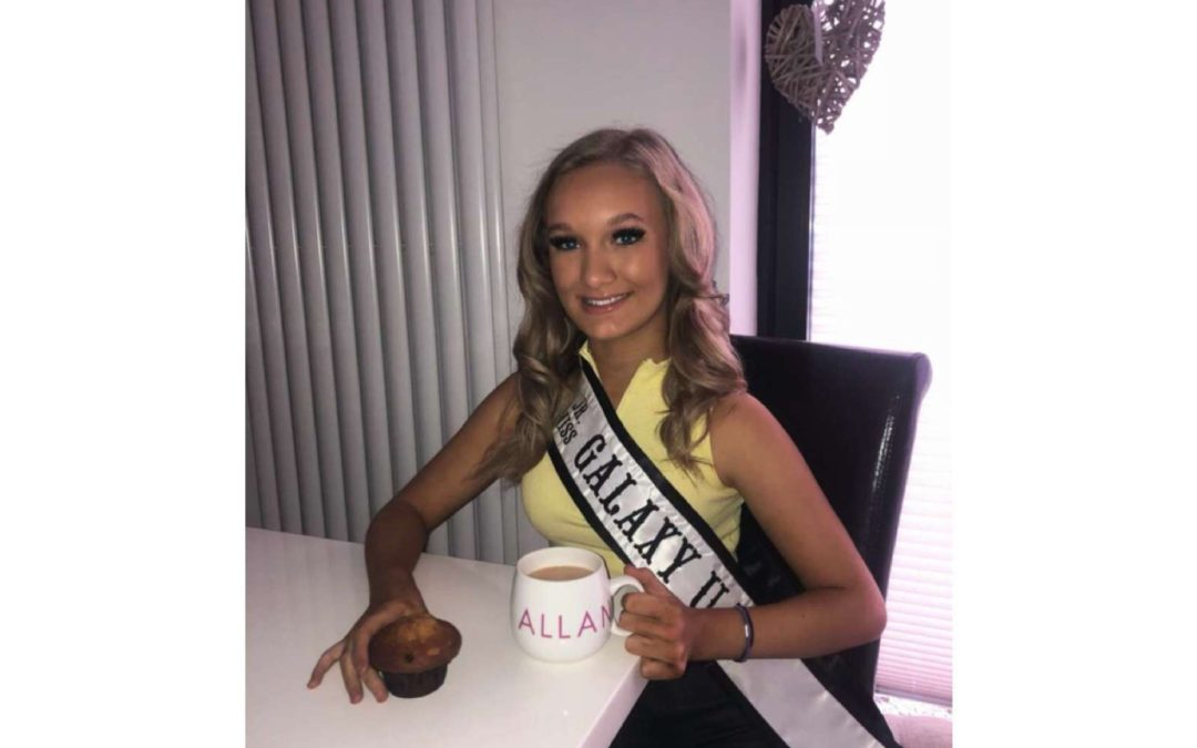 Junior Miss Galaxy UK, Ellie-Mia, took part in Macmillan's online coffee morning!