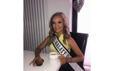 Junior Miss Galaxy UK, Ellie-Mia, took part in Macmillan's online coffee morning!